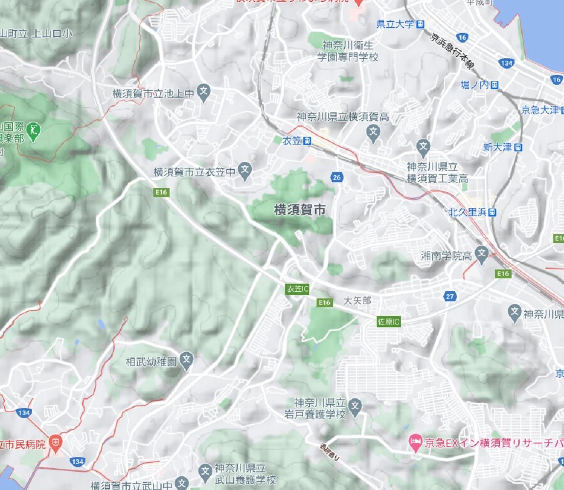 横須賀市の地形