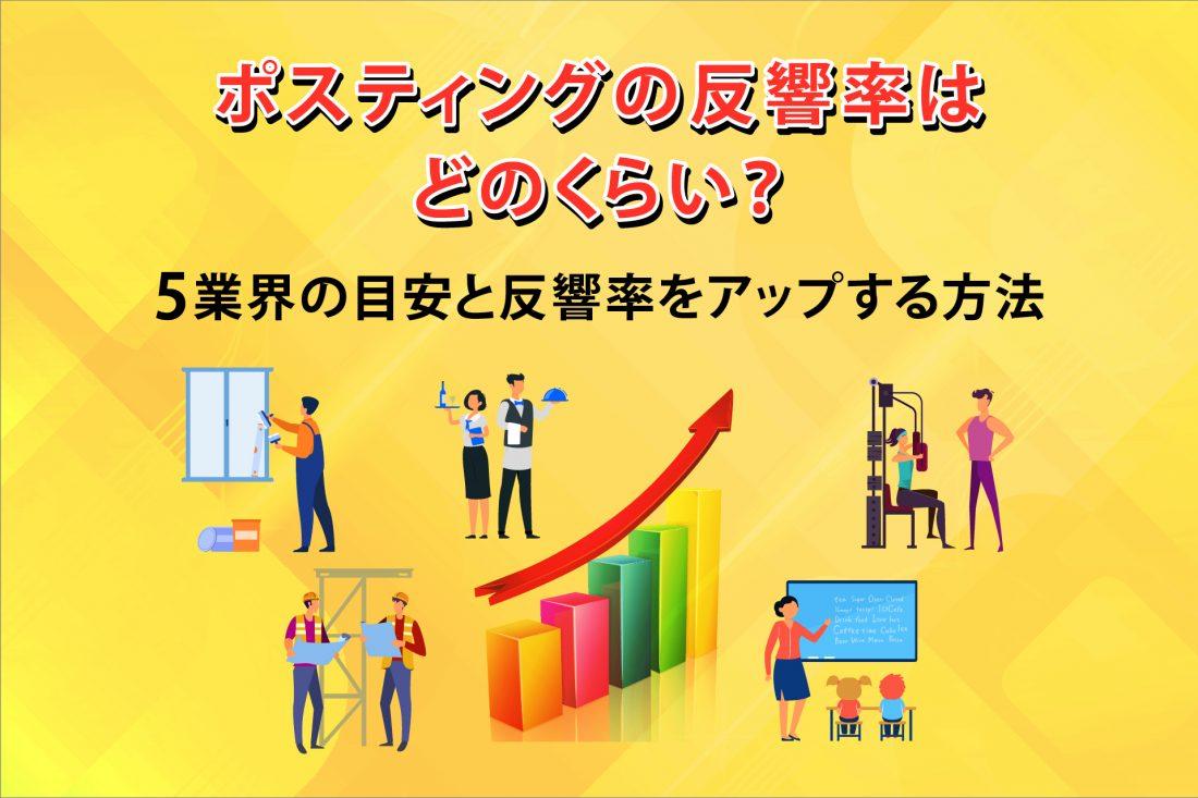 ポスティングの反響率はどのくらい?5業界の目安と反響率をアップする方法の画像