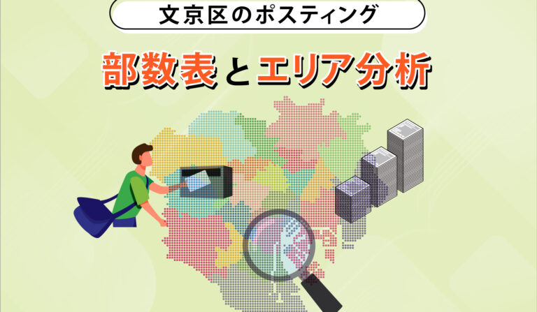 文京区のポスティング 部数表とエリア分析の画像