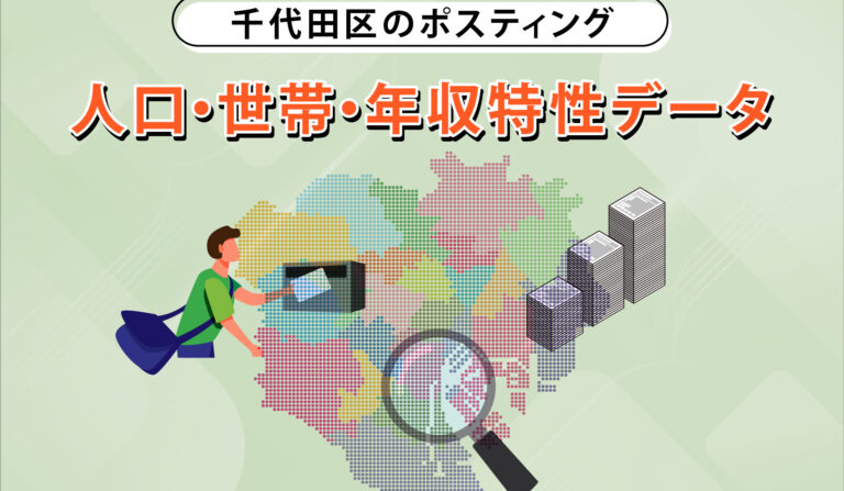 千代田区のポスティング 人口・世帯・年収特性データの画像