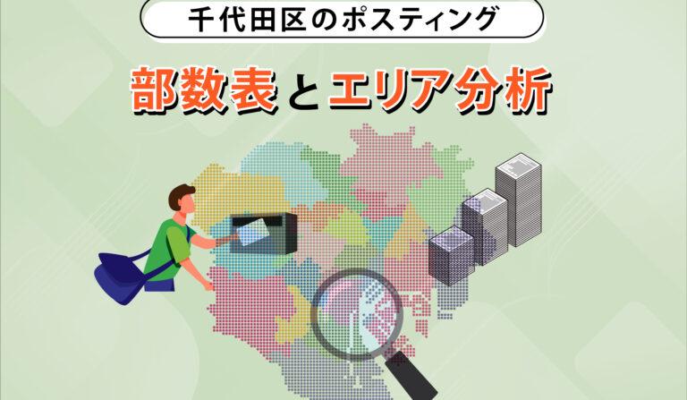 千代田区のポスティング 部数表とエリア分析の画像