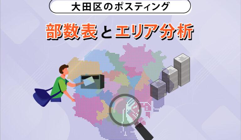 大田区のポスティング 部数表とエリア分析の画像