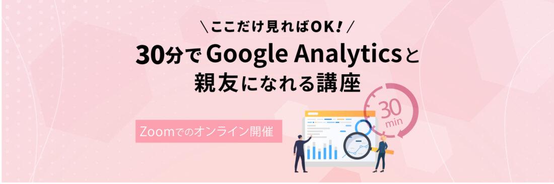 30分でGoogleAnalyticsと親友になれる講座
