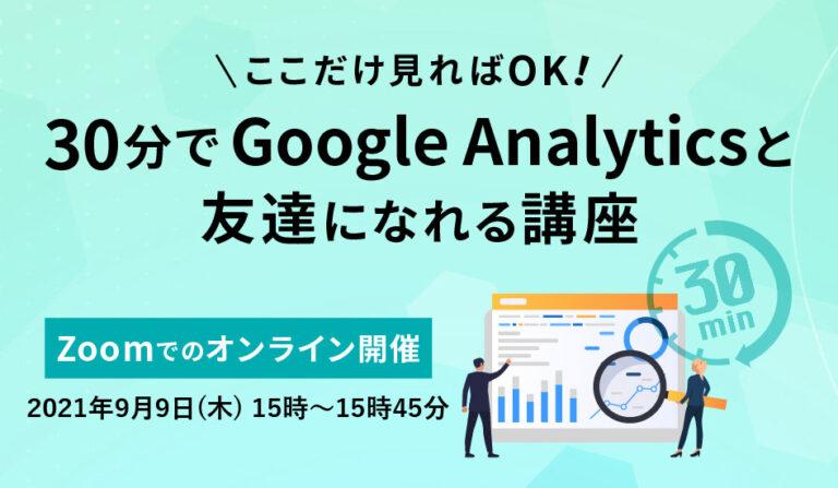ここだけ見ればOK!30分でGoogleAnalyticsと友達になれる講座の画像