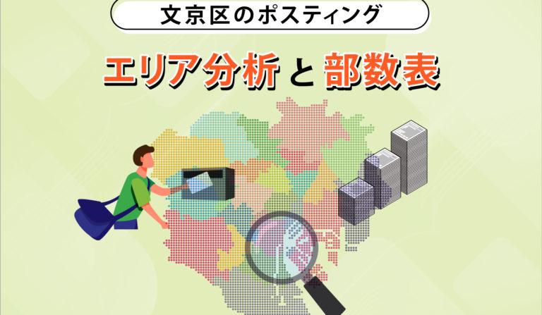 文京区のポスティング エリア分析と部数表の画像