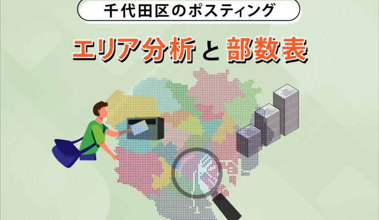 千代田区のポスティング エリア分析と部数表の画像