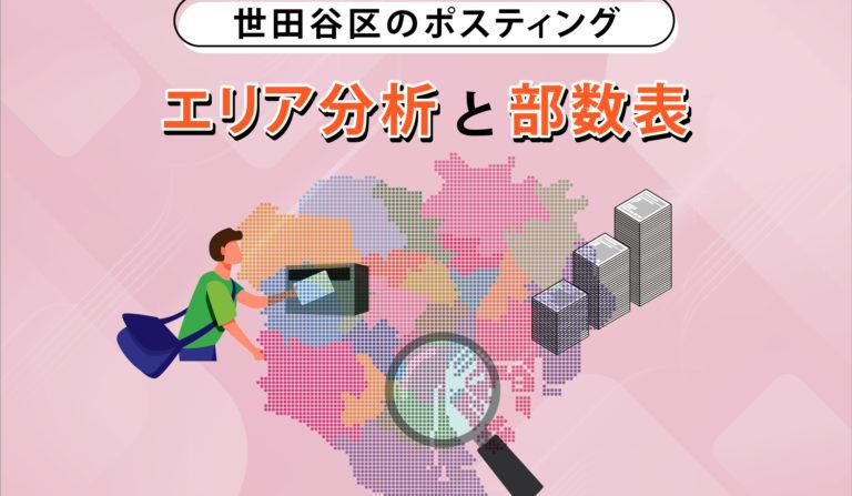 世田谷区のポスティング エリア分析と部数表の画像